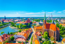 Aerial View Of Wroclaw With Ch...