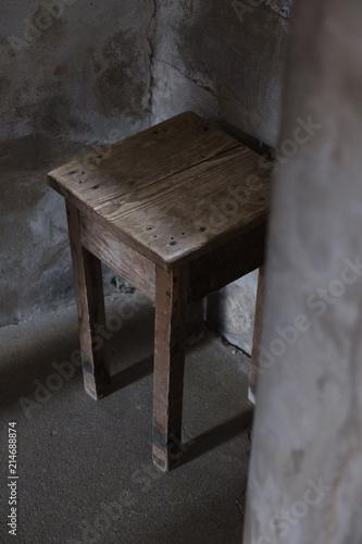 Möbel Im Fort De Joux Eine Festung In Frankreich An Der Grenze Zur