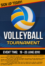 Volleyball Tournament Flyer Or...