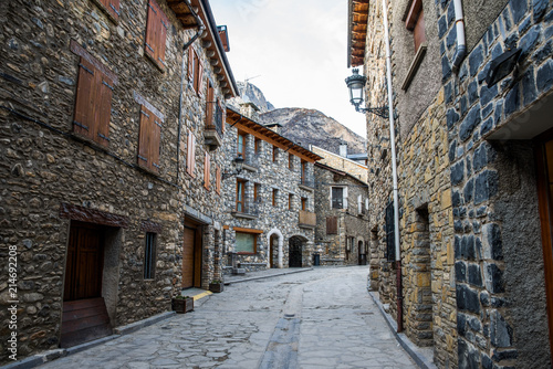 street view from Benasque, huesca, aragon, spain