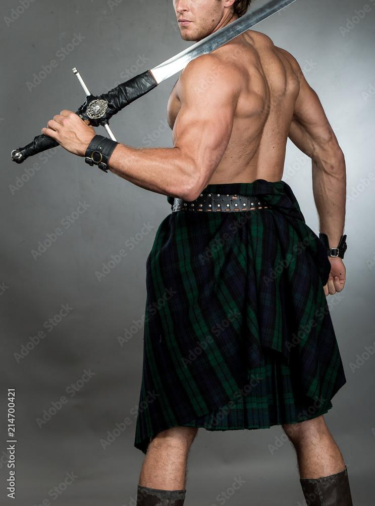 Fototapeta Highlander Man in Kilt