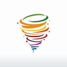 Colorful Tornado Logo Symbol I...