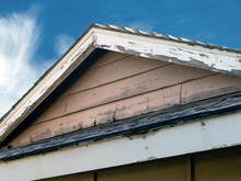 Distressed Roofline Of A House...