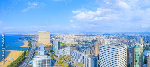 福岡タワーからの眺望 Fototapeta