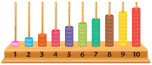 Colorful 1 To 10 Abacus