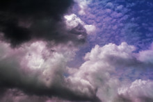 Dark Cloudy And Colorful Of Sk...