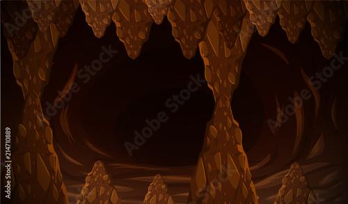 Tableau sur Toile Dark cave formation scene