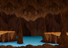 Underground Cave With Water