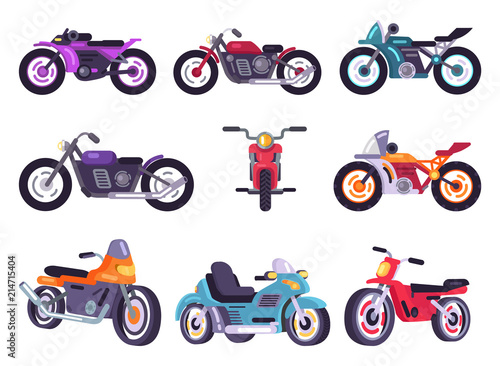 Motorbikes Classical Collection Vector Illustration