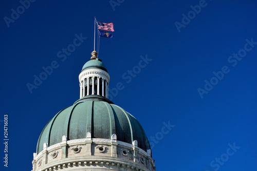 Fotografie, Obraz  Indiana Statehouse Capitol Building Dome on a Sunny Day