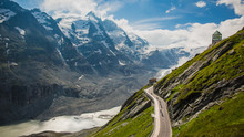 Austrian Alps Mountain Range With Grossglockner Peak In The Summer