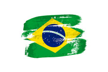 Brazilian Flag Painted With Br...