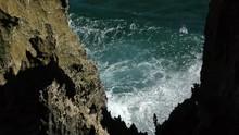Waves Crashing Into Coast