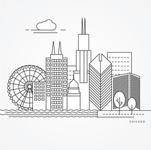 Linear Illustration Of Chicago...