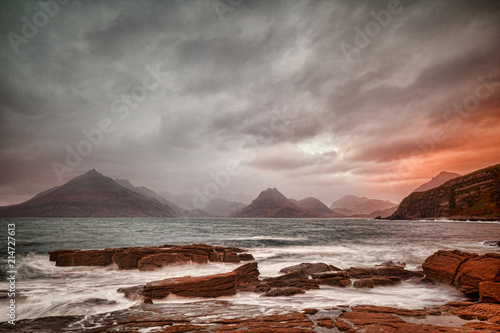 Poster Taupe Cuillins from Elgol