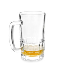 Almost Empty Mug Of Cold Beer ...