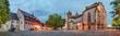 Breisach Elsass Rathaus Kirche  Panorama beleuchtet