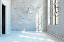 Vintage Wall With  Lamp.