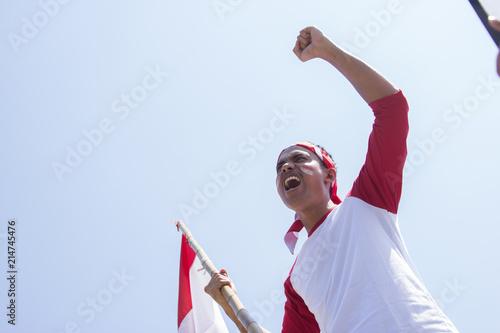 Photo  indonesian independence day celebration