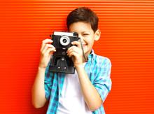 Portrait Happy Little Boy Teen...