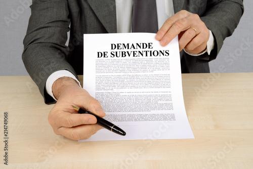 Photo Demande de subventions