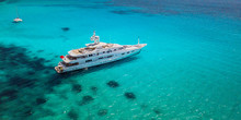 Big Luxury Yacht Anchoring In ...