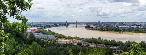 Vue panoramique sur Bordeaux depuis Lormont Canvas Print