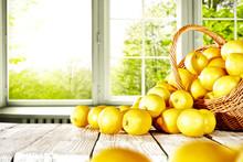 Fresh Yellow Lemon On White Wo...