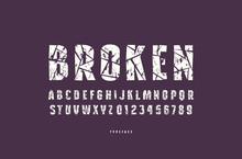 Decorative Sans Serif Font With Broken Face