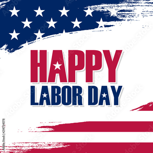 Usa labor day greeting card with brush stroke background in united usa labor day greeting card with brush stroke background in united states national flag colors and m4hsunfo