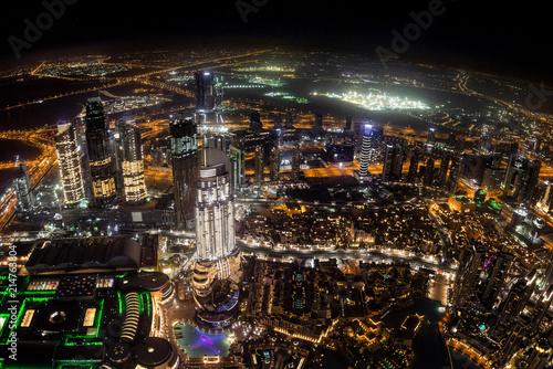 Fotografía  Cityscape of Dubai in UAE during the night