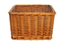 Wicker Basket On White