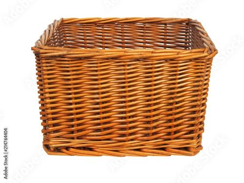 Wicker basket on white Fototapete