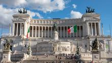 View Of Altare Della Patria From Piazza Venezia