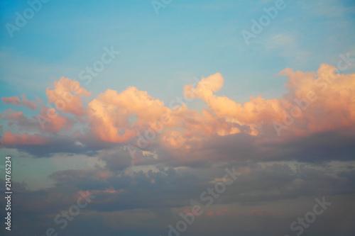 Fototapety, obrazy: The sky at sunset
