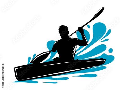 Obraz na plátně  Kayak e rafting