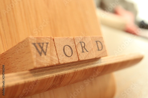 Photo  Wooden Block Text of Word