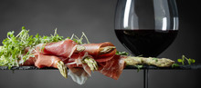 Asparagus Wrapped In Prosciutto With Red Wine .