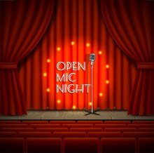Open Mic Night Live Show Vecto...