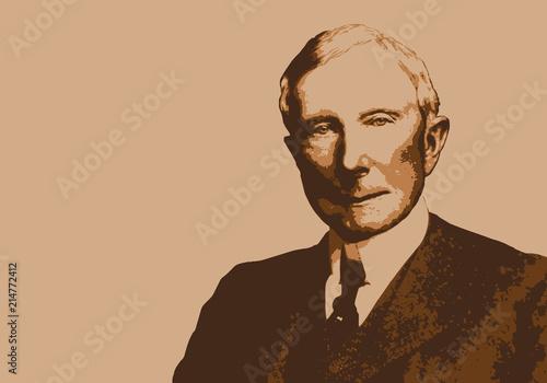 Rockefeller - portrait - milliardaire - personnage - historique - célèbre - capi Wallpaper Mural