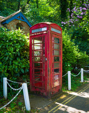 Old English Red Telephone Box,...