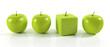 3D Apfel Eckig