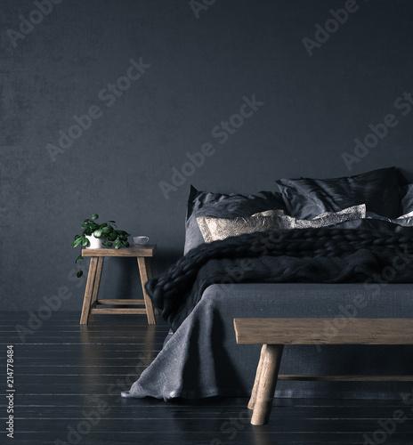 Foto auf AluDibond Boho-Stil Ethnic bedroom interior, 3d render