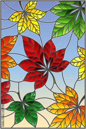 ilustracja-w-witrazu-stylu-z-kolorowymi-liscmi-cisawi-drzewa-na-blekicie