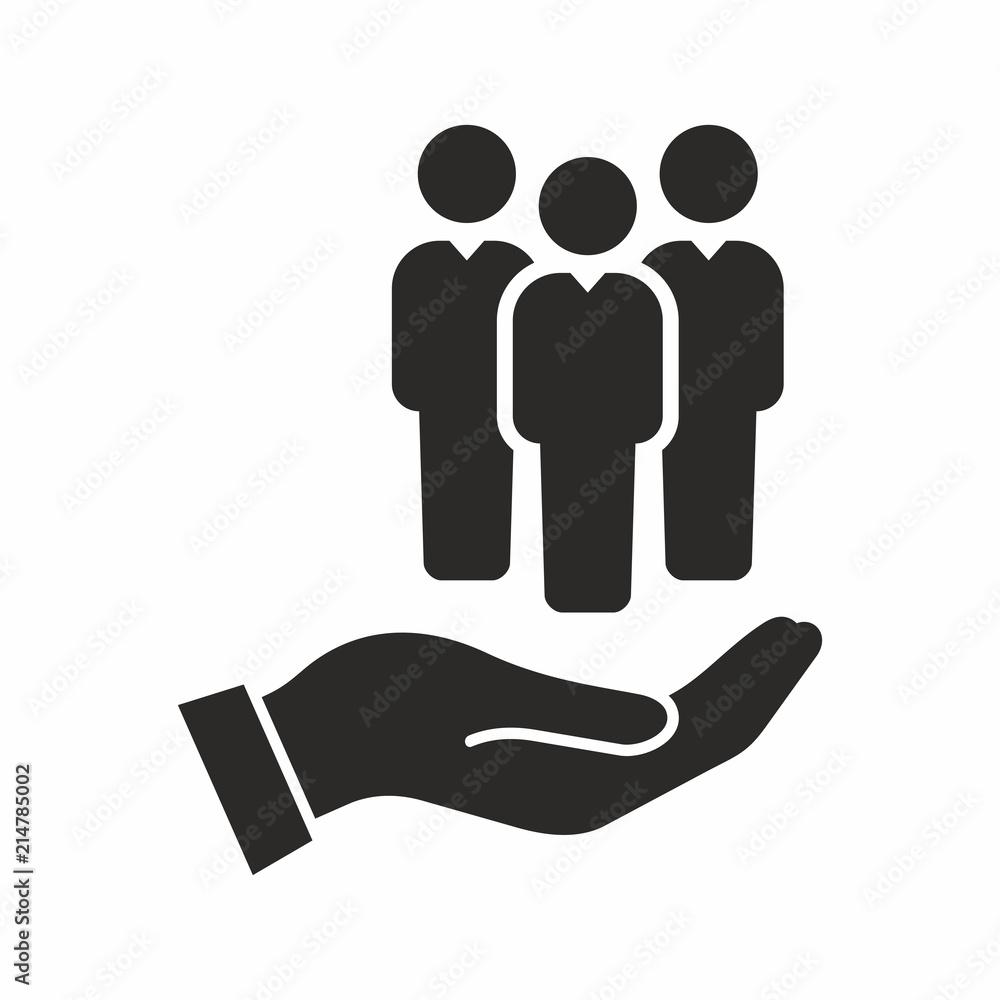 Fototapeta Human resources icon