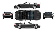 Black Convertible Car Vector M...
