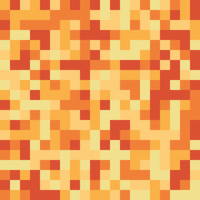 Seamless Pattern Made Of Yellow And Orange Square Elements - Pixel Texture For Honey, Fire, Light Or Anything Yellow - Orange In Retro 8bit Games, Nice For Clothes Or Fashion Use, Cool Web Background