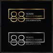 88th years anniversary celebration background