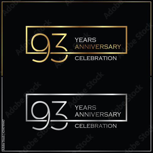 Fotografie, Obraz  93rd years anniversary celebration background