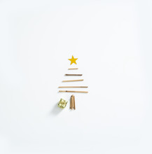 Minimal Hand Made Christmas Tree Top View